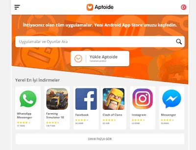 Aptoide Play Market Benzeri Uygulamalar