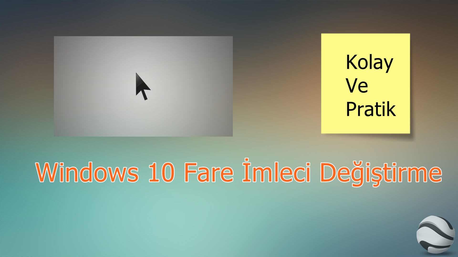 windows 10 fare imleci değiştirme