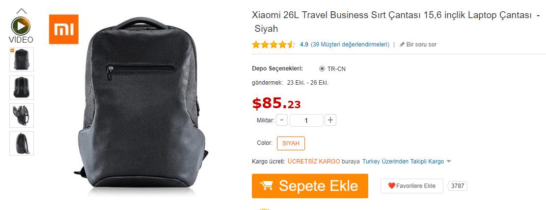 xioami sırt çanta