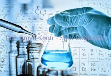 tyt kimya konu ve soru dağılımları