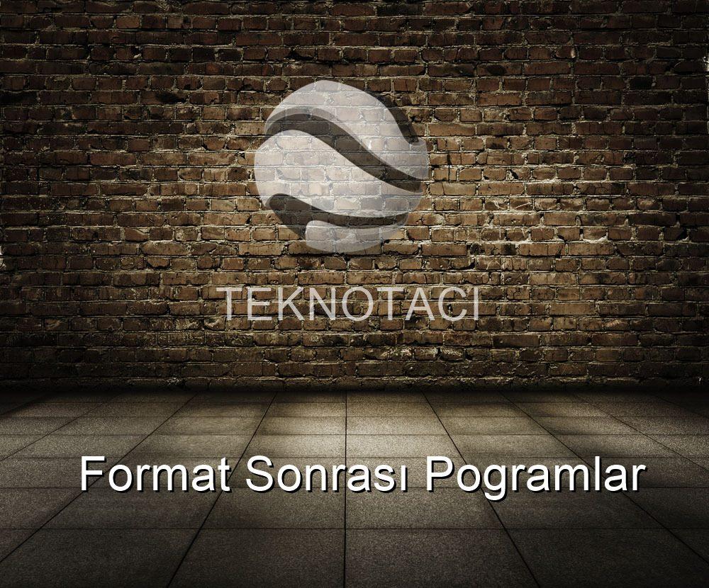 format sonrası program