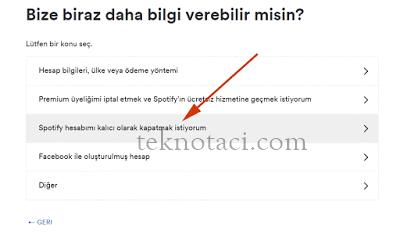 spotify hesap kapatma 3