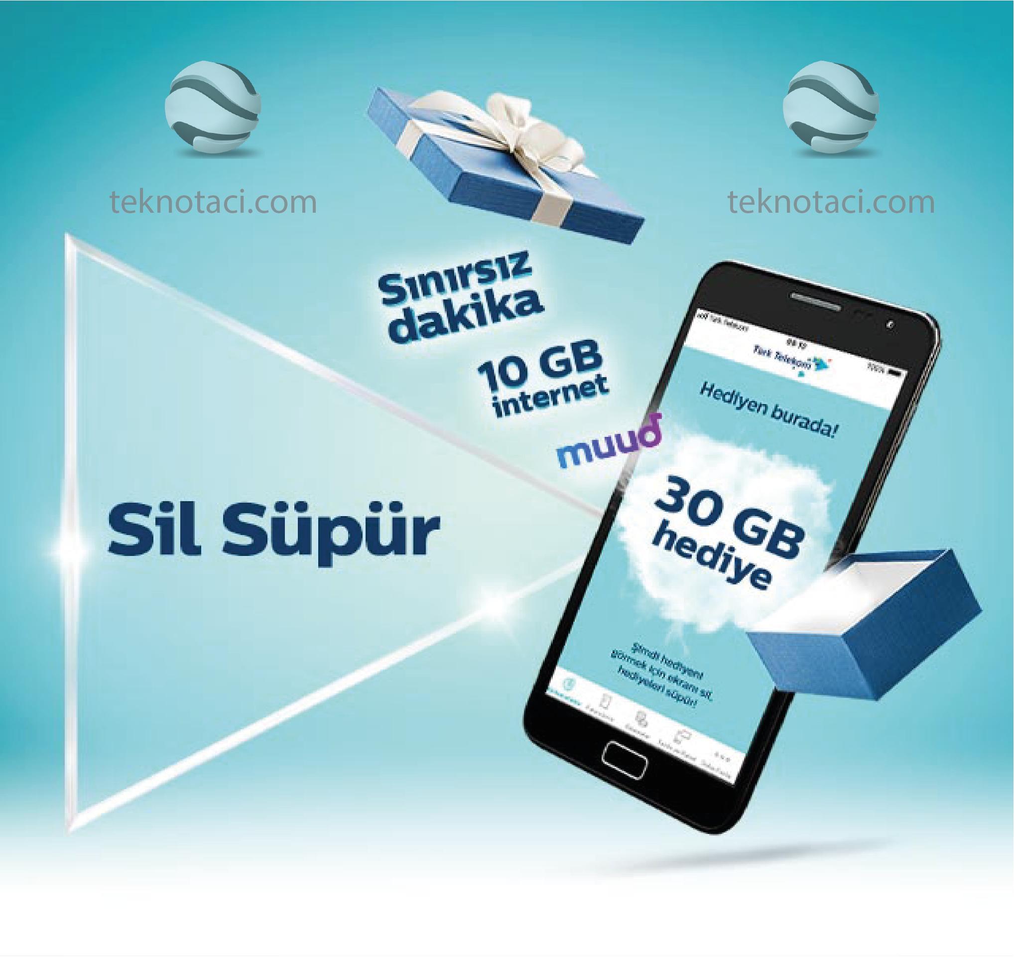 Photo of Türk Telekom'dan Sil Süpür Kampanyası – Bedava Dk, Sms ve İnternet