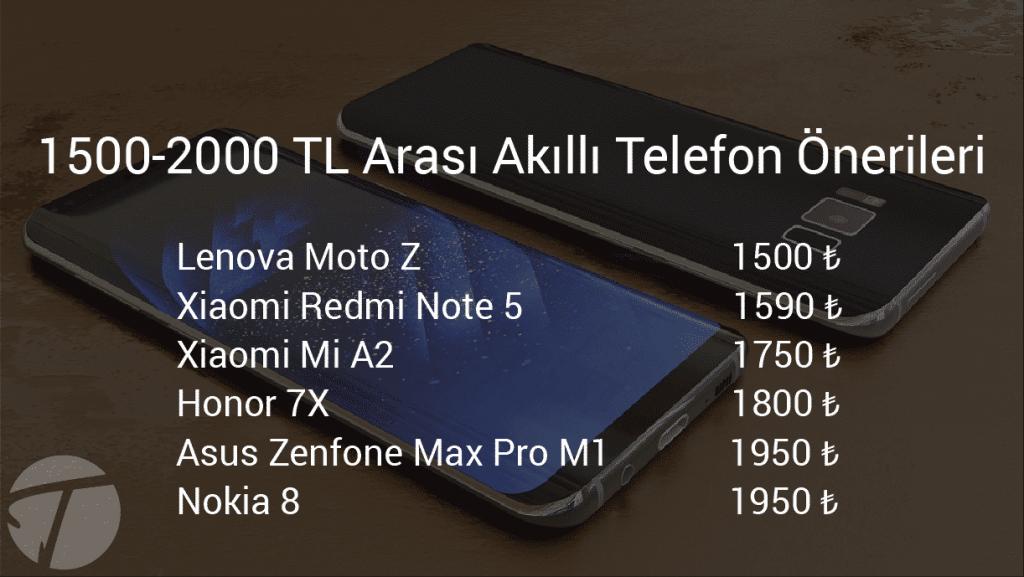 1500-2000 tl arası telefon tavsiyesi