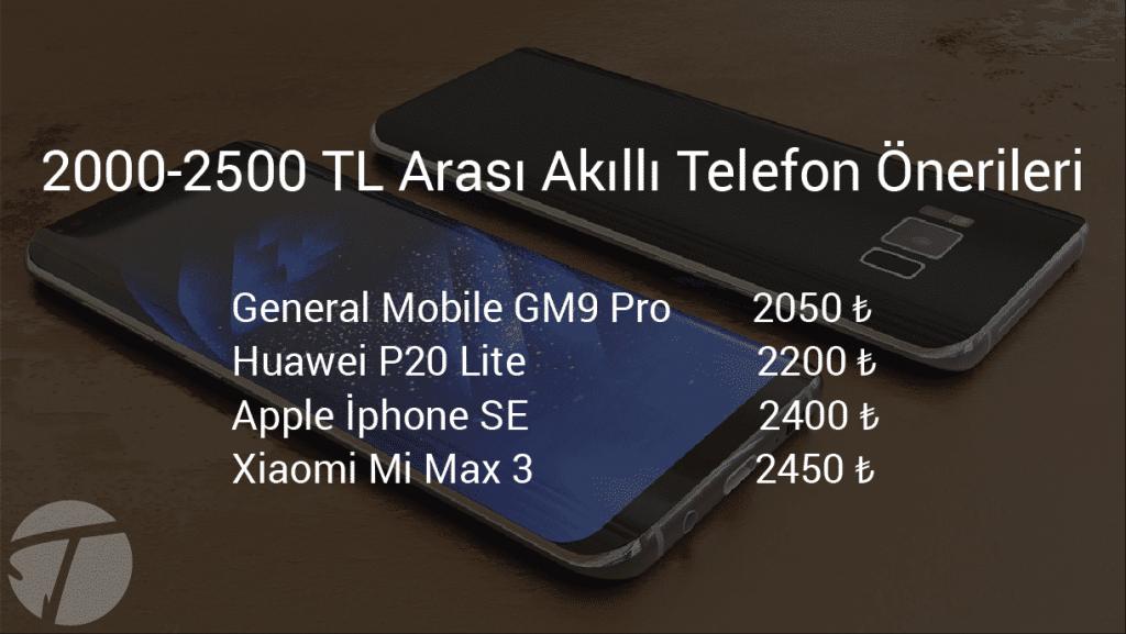 2000-2500 tl arası akıllı telefon önerileri