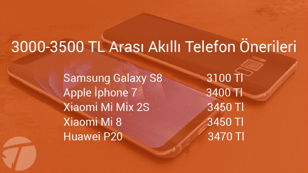 3000-3500 tl arasındaki akıllı telefonlar