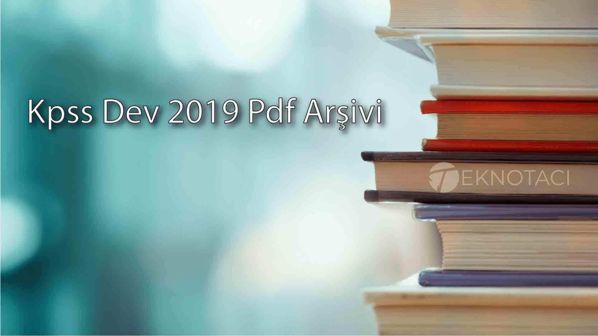 2019 Dev Kpss Pdf Kitap Arşivi Indir Teknotaci