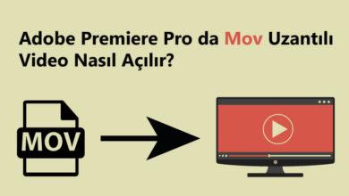 adobe premiere pro mov uzantılı videolar nasıl açılır