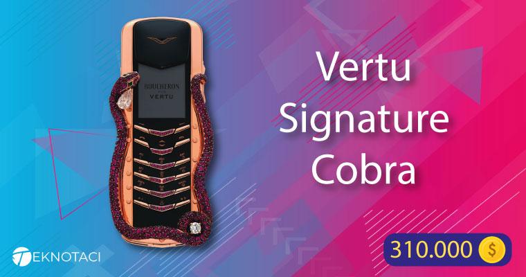 Vertu Signature Cobra dünyanın en pahalı telefonu