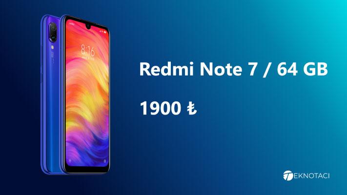 2000 TlAltı Telefon Önerisi - Redmi Note 7 64 GB