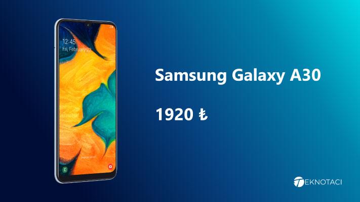 2000 Tl Altı En İyi Akıllı Telefonlar Samsung Galaxy A30