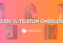 3000 Tl Akıllı Telefonlar