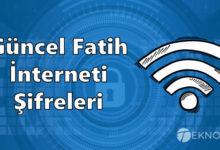 Güncel Fatih İnterneti Şifresi