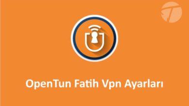 Opentun Vpn İle Fatih Ağı Okul İnternetine Bağlanma