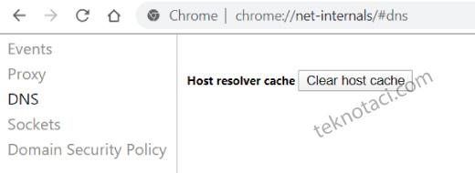 Chrome Dns Önbelleği Temizleme