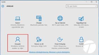 Windows 10 Yeni Kullanıcı Hesabı Ekleme