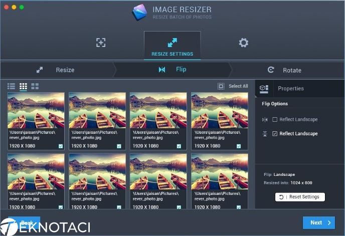 Mac'deki Fotoğraf ve Resimleri Toplu Olarak Yeniden Boyulnadırma