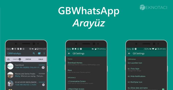 GB Whatsapp Apk Arayüzü