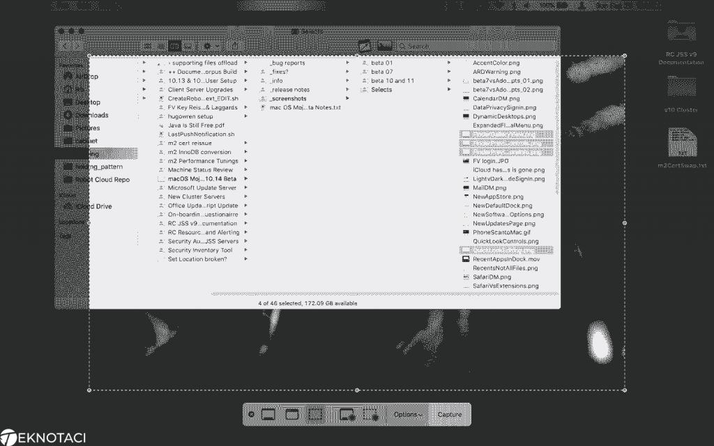 Mac OS Pencere Ekran Görüntüsü Alma