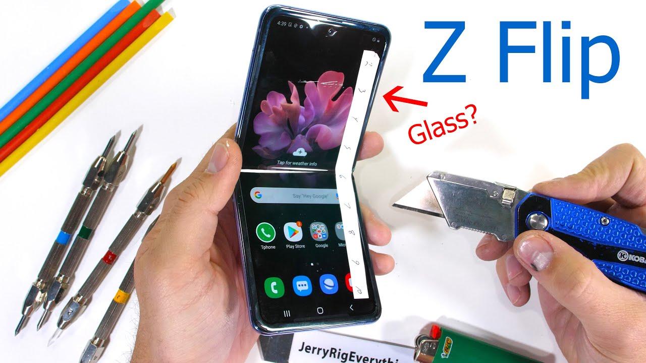 Samsung Z Flip Dayanıklılık Testi