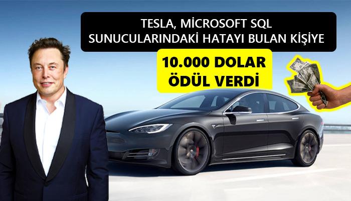 Tesla Açıık Bulan Bir Kişiye 10.000 Dolar Ödül Verdi