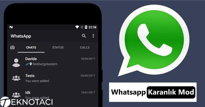 Whatsapp Karanlık Mod Aktif Etme