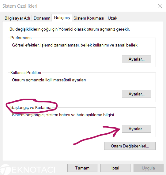 Windows 10 Sistem Özellikleri