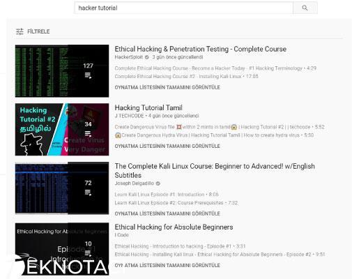 youtube hacker nasıl olunur dersleri