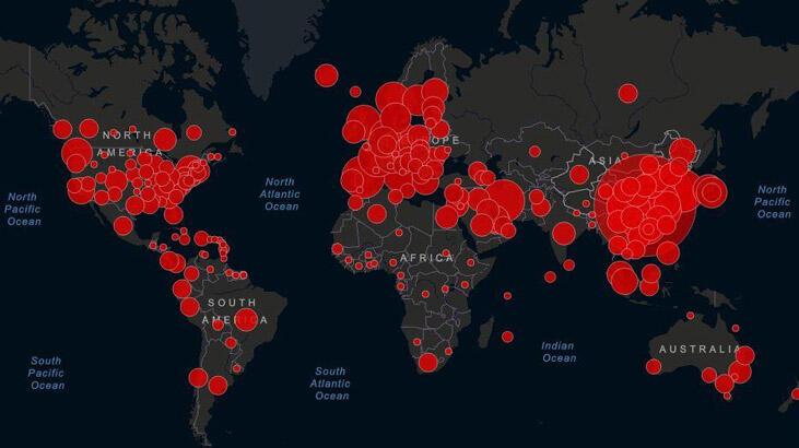 güncel coronavirüs haritası