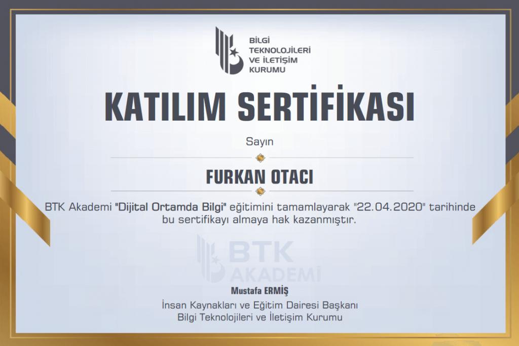 btk akademi sertifika örneği
