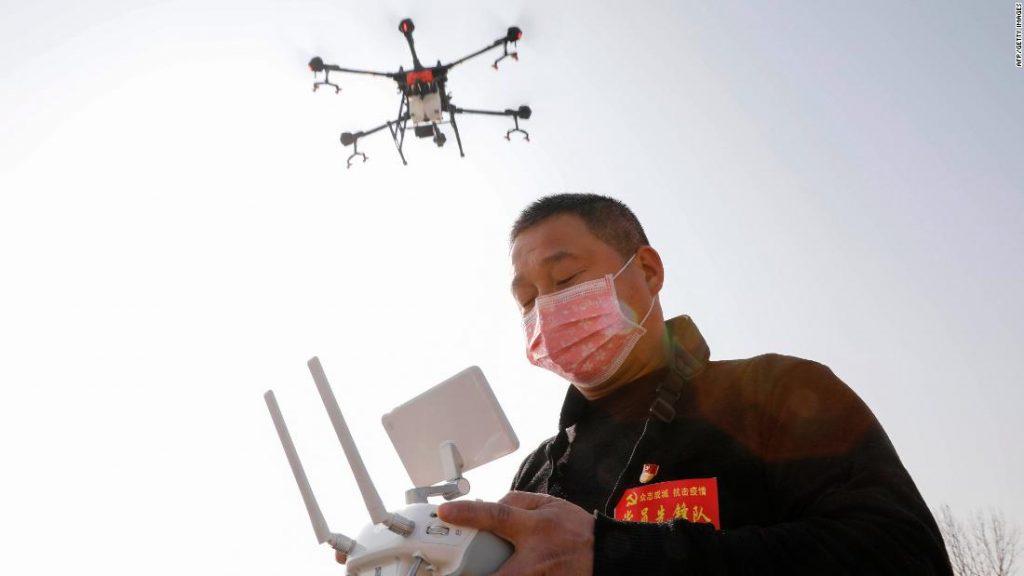 Çin Koronavirüs İle Mücadelesinde Drone Kullanıyor