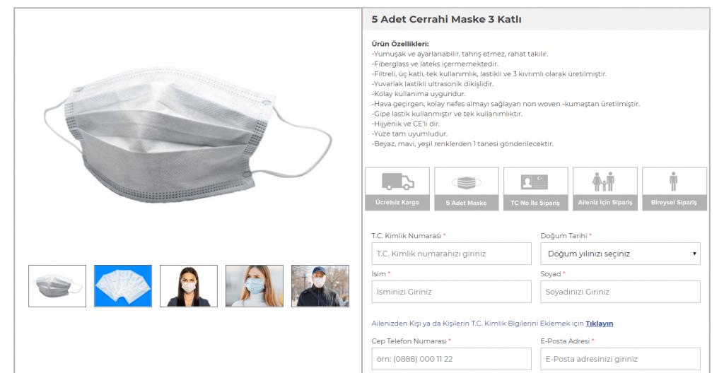 ptt ücretsiz maske dağıtıyor
