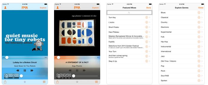 iphone için yasal müzik indirme programı - fma