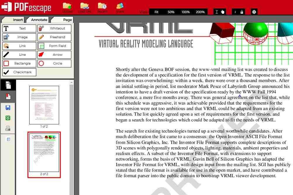 PDFescape Online PDF Editörü