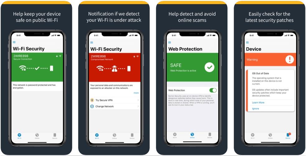 norton mobil antivirüs programı uygulaması