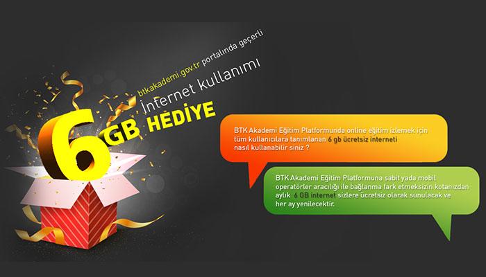 btk akademi bedava 6gb internet