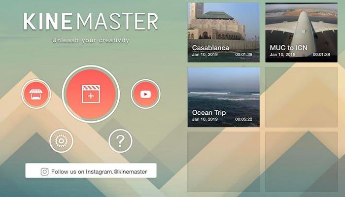 kinemaster mobil için video düzenleyici
