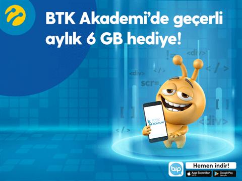 BTK Akademi Turkcell Hediye 6 GB İnternet Kampanyası