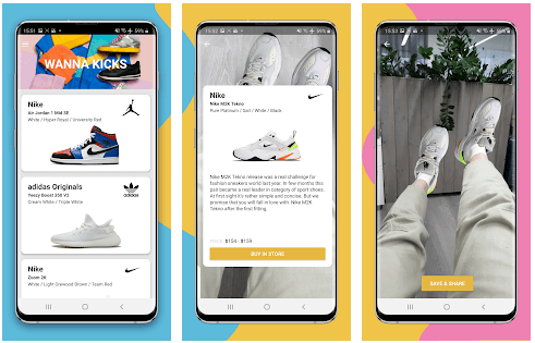 wanna kick yapay zeka sanal gerçeklik ayakkabı giyme uygulaması