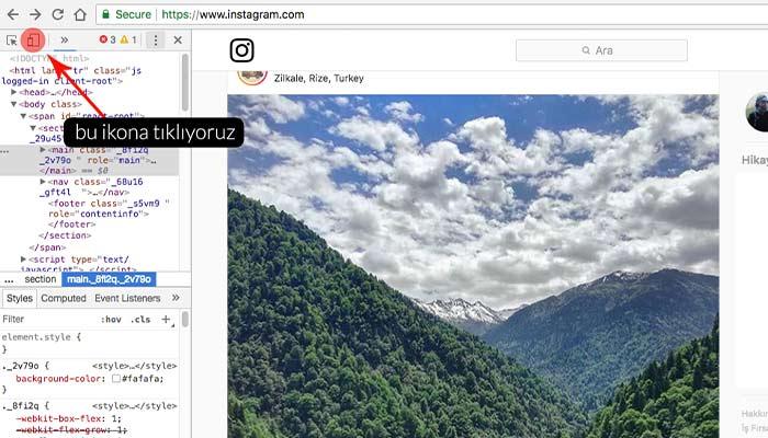chrome ile bilgisayardan instagrama fotoğraf yükleme