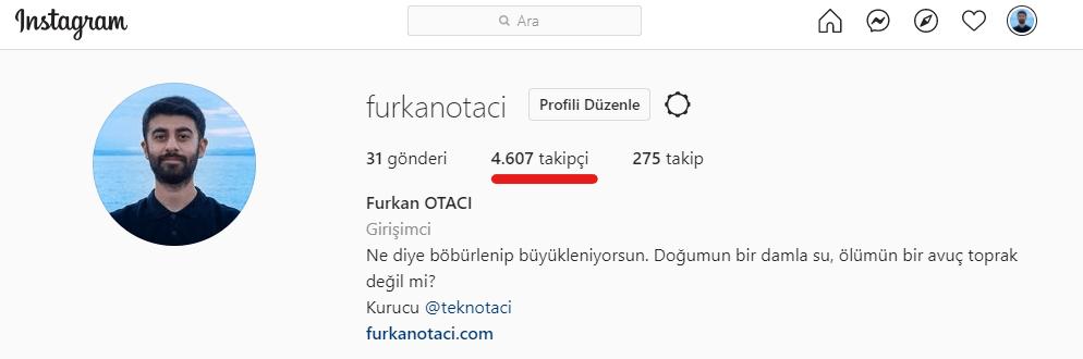 instagram takipçi almadan önce